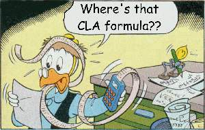 Gyro Gearloose: Where's that CLA formula??