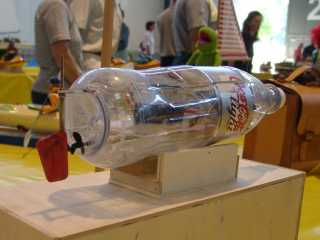 RC ship from a coke bottle