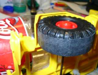 WR car: wheeles with friction rubbers